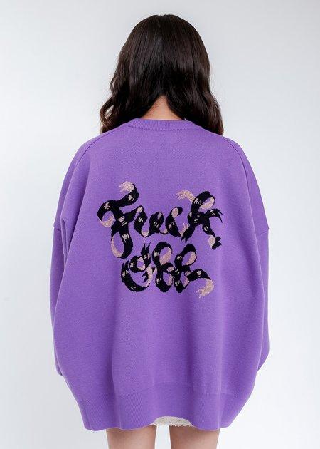 Kidill Hell Boy Knit Pullover Sweater - Purple