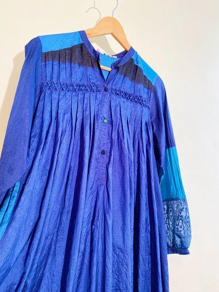 Injiri Shekhawati 19 Silk shibori Dress - Indigo