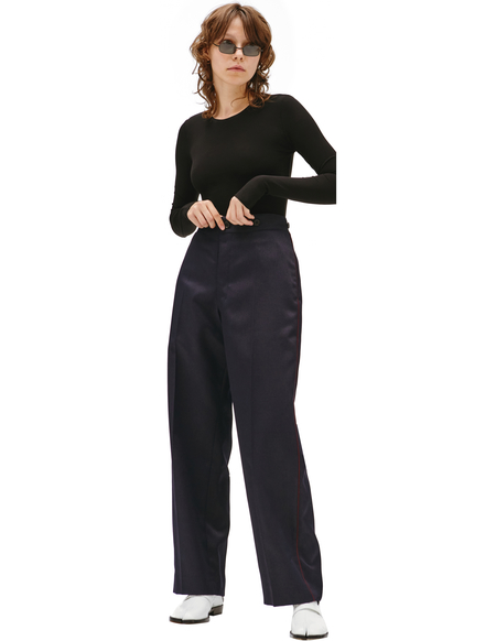 Maison Margiela Straight Leg Trousers - Navy Blue