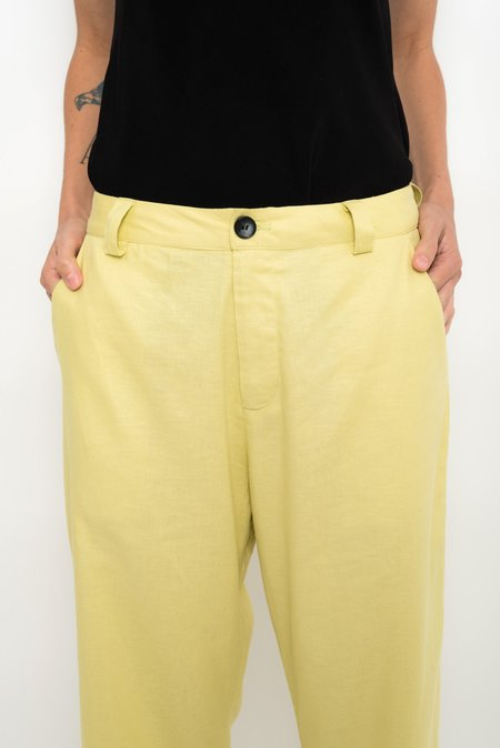 UMA Raquel Davidowicz Tailoring Linen Pants - Caranguejo