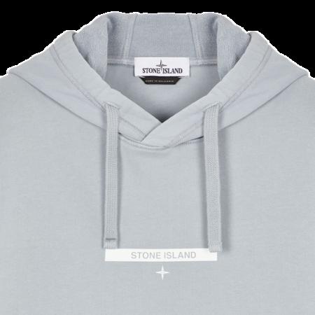 Stone Island Brushed Cotton Fleece Sweatshirt - Pearl Gray