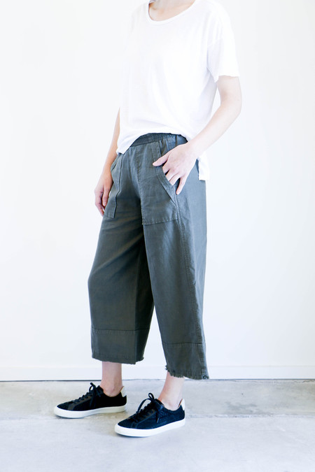 Pharaoh Cropped Culotte - Military