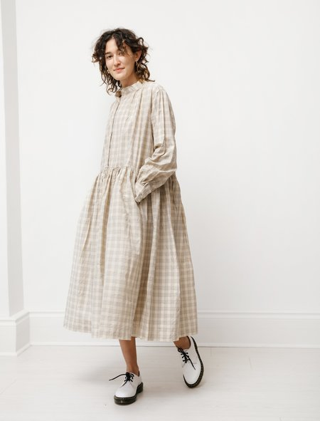 Casey Casey Womens Yuki Dress - Check Natural