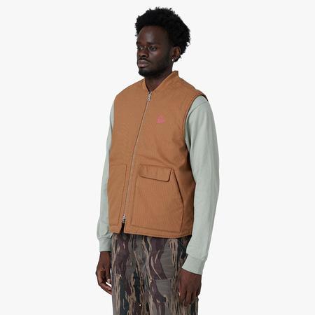 by Parra Snake Pattern Vest - Camel