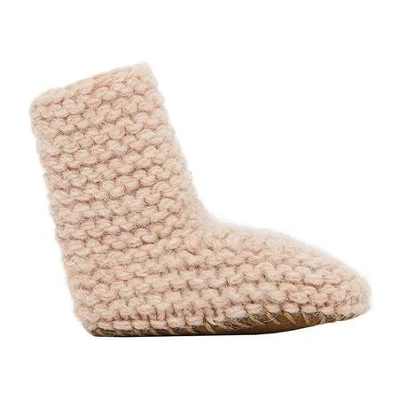Kids Bonton Baby Knit Booties - Marshmallow Pink