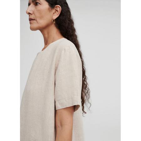 Monica Cordera Linen Maxi Dress - Natural