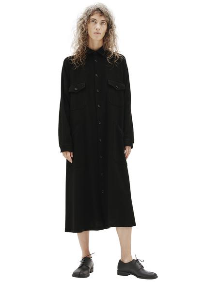 Y's Pockets Shirt Dress - Black