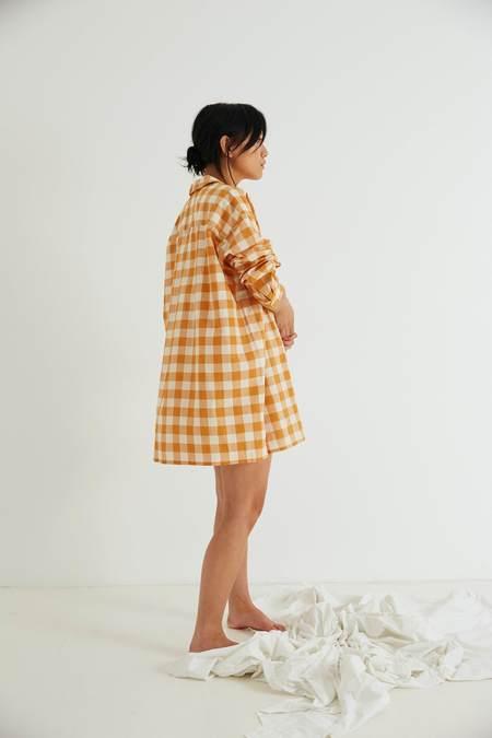 General Sleep Sleep Shirt - Clementine Gingham