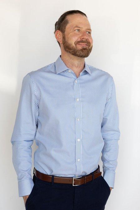 Tiger of Sweden Fridolf Stripe Shirt - BLUE