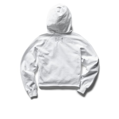 Reigning Champ Lightweight Terry Cut-Off Hoodie SWEATER - WHITE
