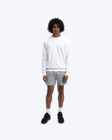 Reigning Champ Lightweight Terry Relaxed Crewneck SWEATER - WHITE