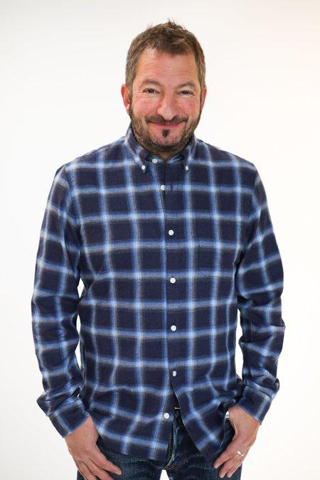 MATINIQUE Trostol Flannel Shirt - Dark Navy