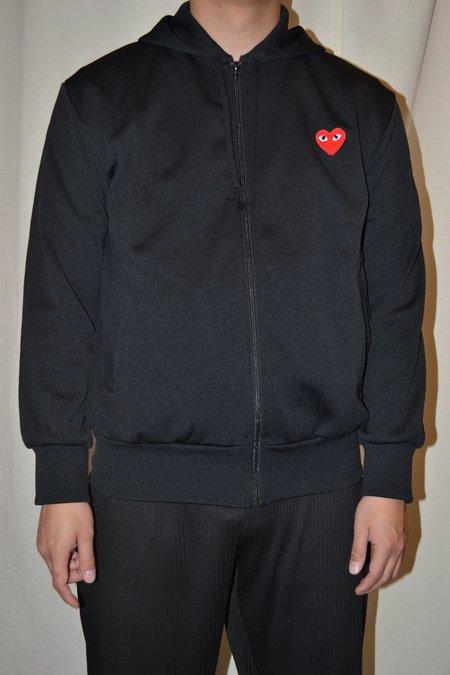 Comme des Garçons Zip Hooded Sweatshirt - BLACK
