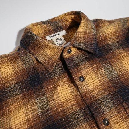 KATO The Ripper Shirt - Beige Vintage Flannel