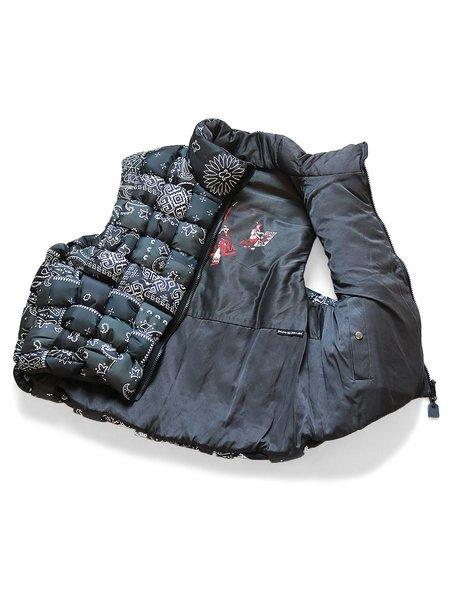 Kapital Bandana Print Nylon KEEL-WEAVING Vest - Black
