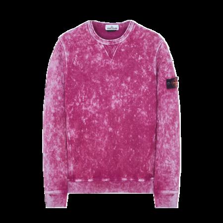 Stone Island Cotton Fleece Off-Dye Men MO751561538-V0045  Sweatshirt - Magenta