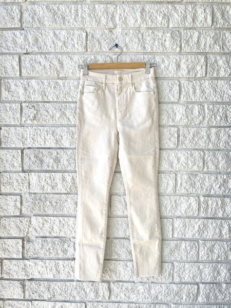 Mother Denim High Waisted Looker Ankle Fray Jeans - Lighting Up Lanterns