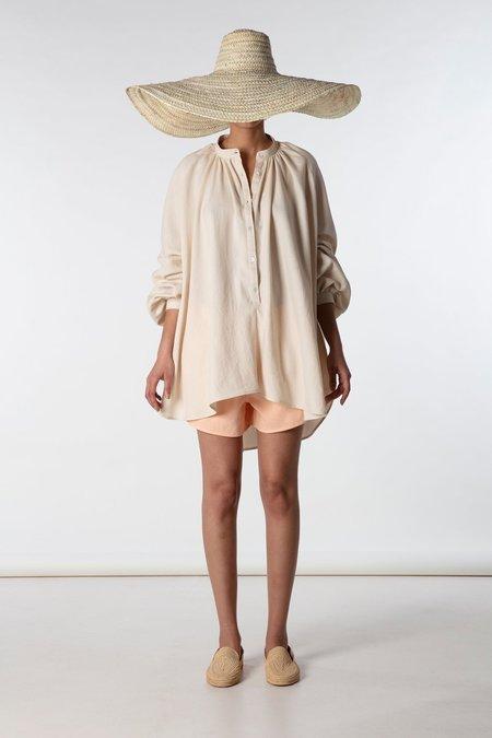 marrakeshi life touareg nero collar tunic - sand