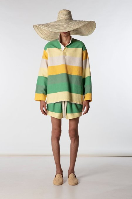 marrakeshi life rugby shirt - yellow/green stripes
