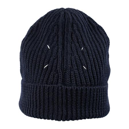 Unisex Maison Margiela Wool Beanie - Navy Blue