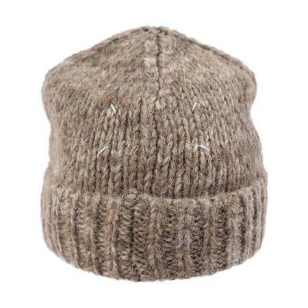 Unisex Maison Margiela Cotton and Wool Beanie - Brown