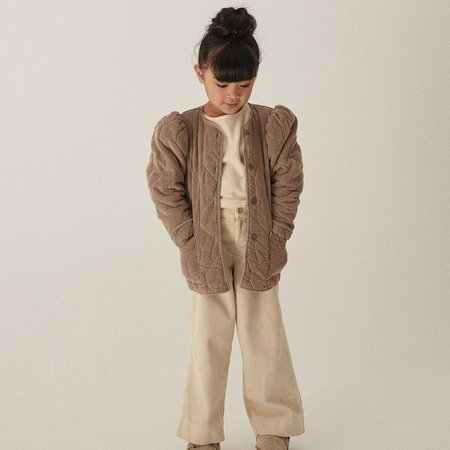 Kids My Little Cozmo Ruth Lined Corduroy Jacket -  Taupe