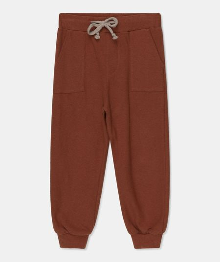Kids My Little Cozmo Will Soft Knit Sweatpants - Brown
