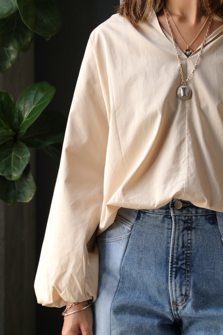 Esse Studios Collected Blouse - Putty