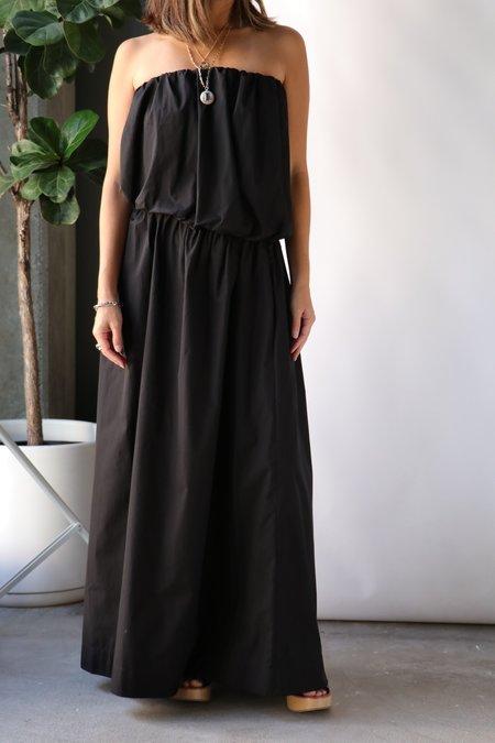 Esse Studios Strapless Cotton w/ Cut Out Dress - Black