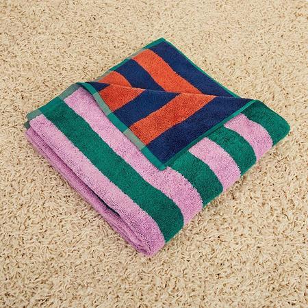 Dusen Dusen Topaz Stripe Bath Towel - Multi