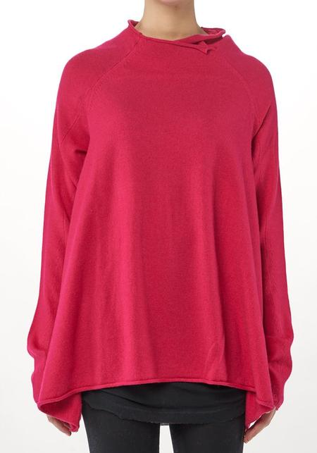 Rundholz Oversized Funnel Neck Long Sleeve Bubble Pullover - KISS