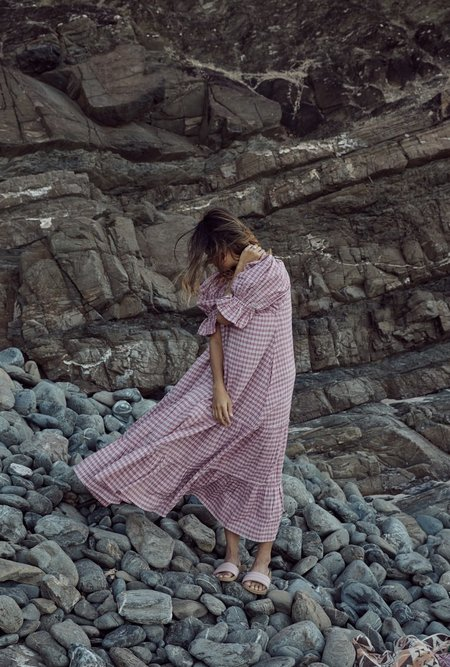 Little Tienda Britta Dress - Raspberry Plaid