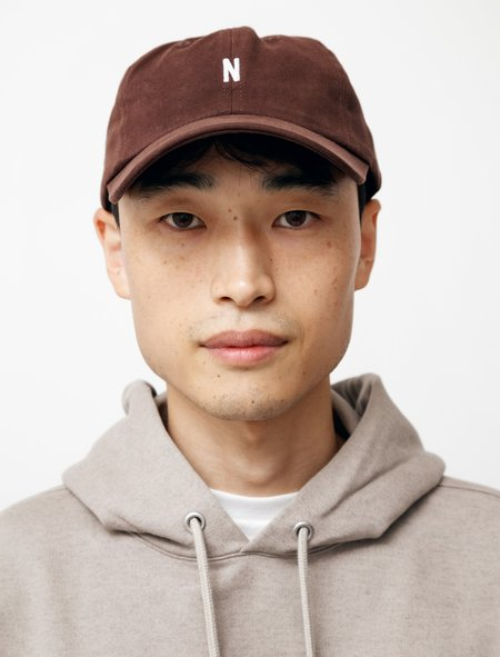 Norse Projects Twill Sports Cap - Cordovan