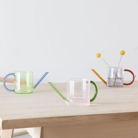 Block Design Duo Tone Watering Can - Green/Blue
