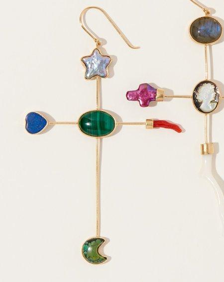 Grainne Morton Cross Hook Earrings II