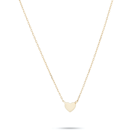 Adina Reyter Super Tiny Puffy Heart Necklace - Gold