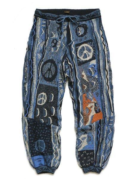 Kapital 7G BORO GAUDY Knit Pants - Navy