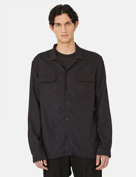 YMC Feathers Wool Shirt - Navy Blue