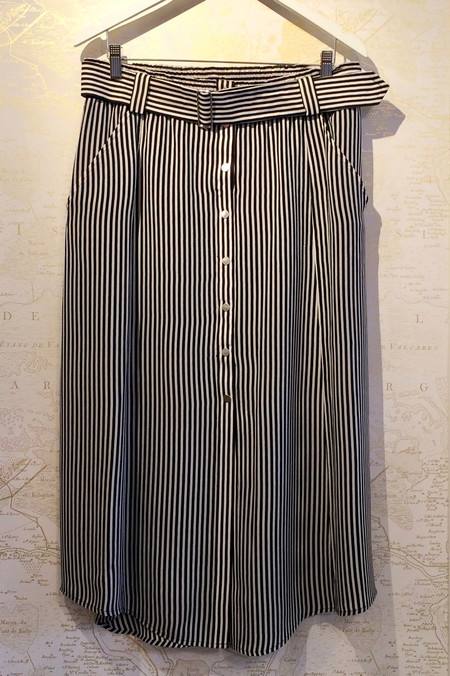 A.L.C. 'Divya' Stripe Silk Long Skirt