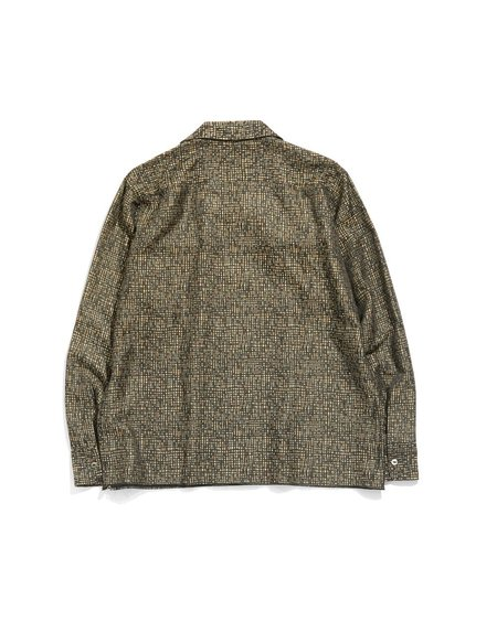Needles Pe/R/L Random Plaid Jacquard C.O.B. Classic Shirt - Black/Khaki