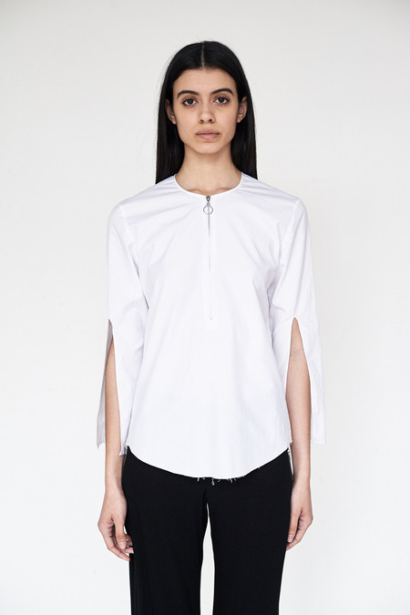 Assembly New York Cotton Split Sleeve Top