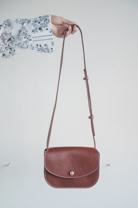 Lindquist Po Vachetta Leather Crossbody - Sorrel