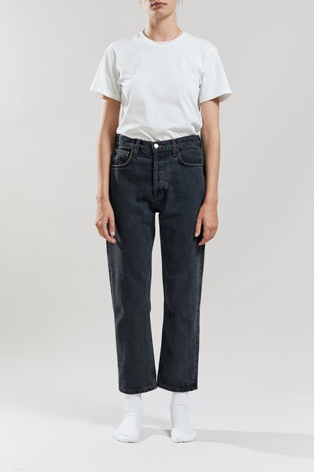Still Here New York Sherpa Tate Crop Jeans - Washed Black