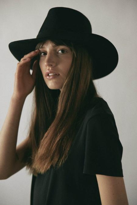 Janessa Leone Luca Fedora - Black
