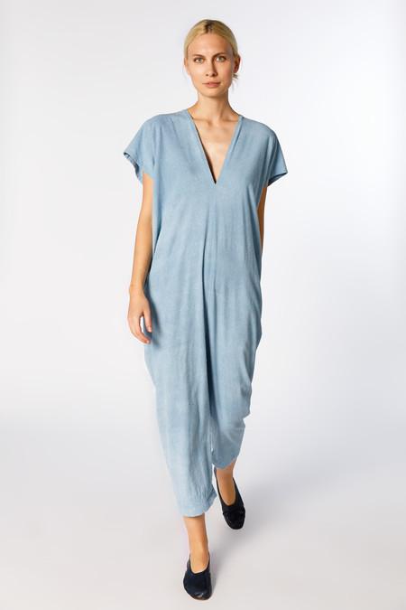 Miranda Bennett Everyday Jumpsuit - Silk Noil in Light Indigo