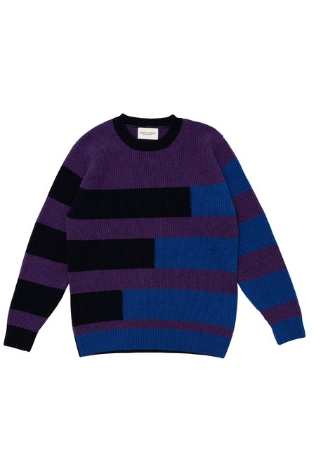 Country of Origin Stepped Crew Sweater