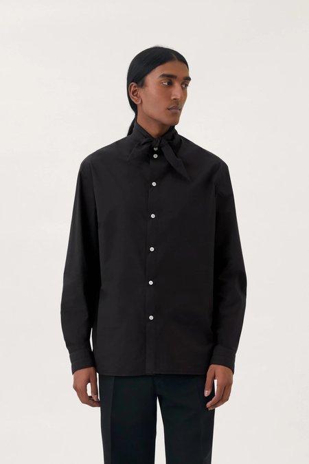 Lemaire Tie neck shirt - black