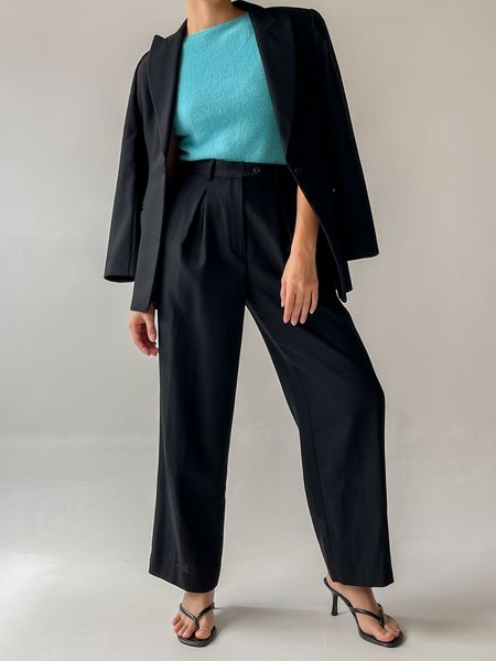 Vintage Armani Wool Pant Suit - Black