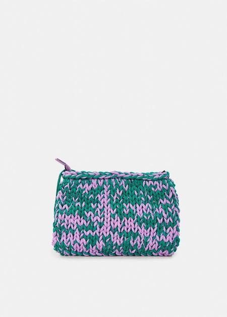 Essentiel Antwerp Knitted Pouch - Lilac/Green