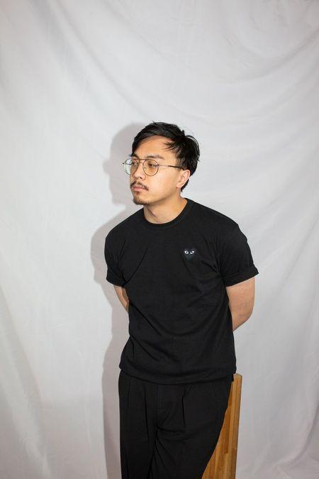 Comme des Garçons Black Heart Patch T-Shirt - Black
